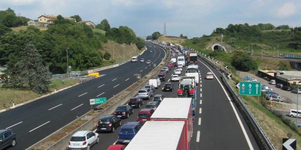 Incidente sull'A1 a Cassino
